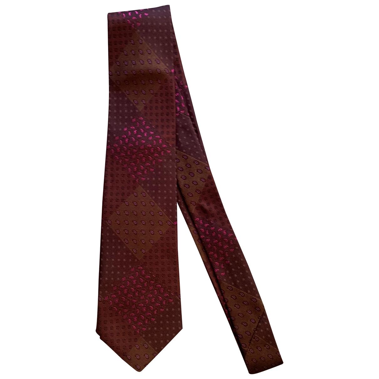 Etro \N Purple Silk Ties for Men \N