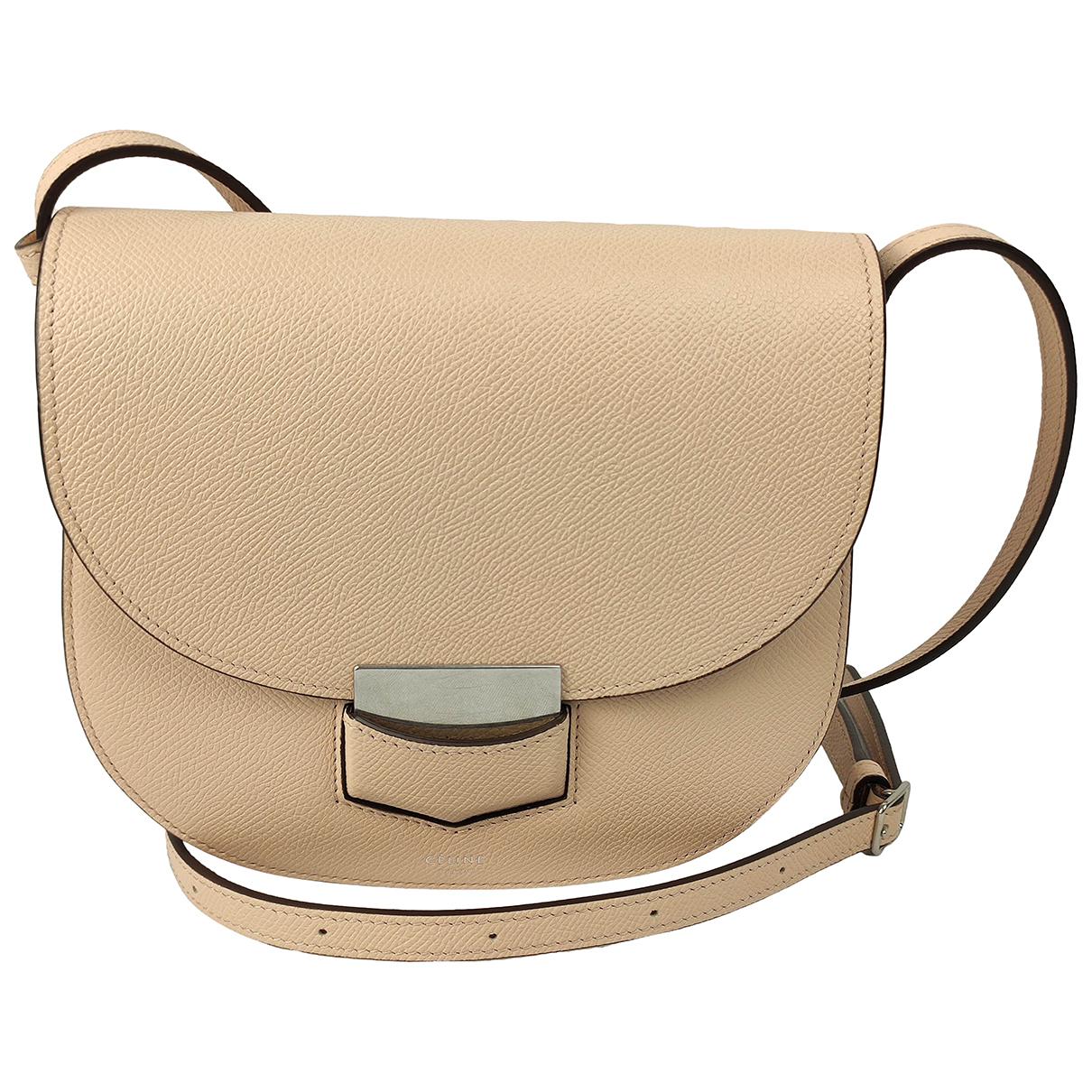 Celine Trotteur Handtasche in  Rosa Leder