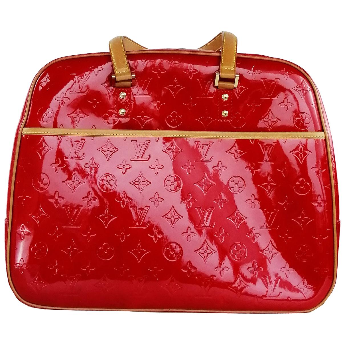 Louis Vuitton - Sac a main Sutton pour femme en cuir verni - rouge