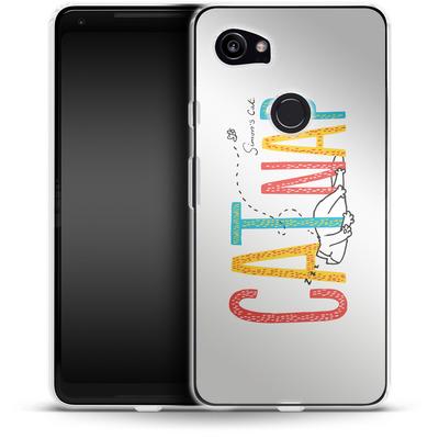 Google Pixel 2 XL Silikon Handyhuelle - Catnap von Simons Cat
