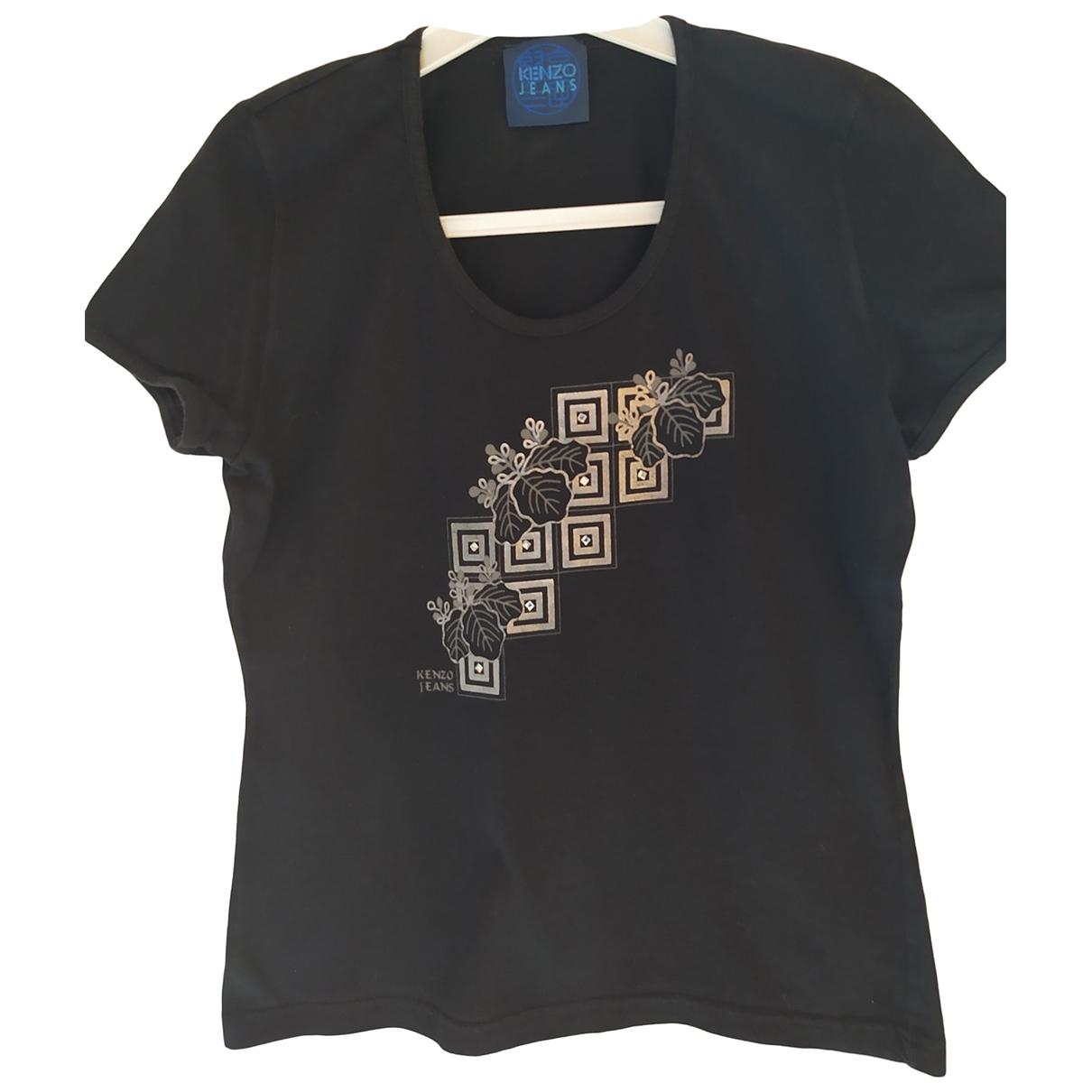 Kenzo \N Black Cotton  top for Women 36 FR