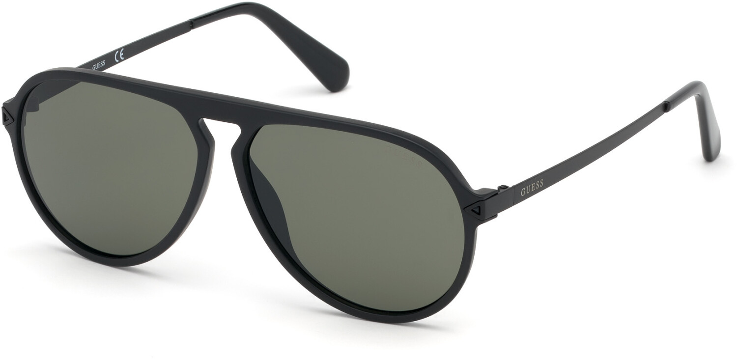 Guess Men's Gradient Gu6941 GU6941-02N-59 Black Round Sunglasses
