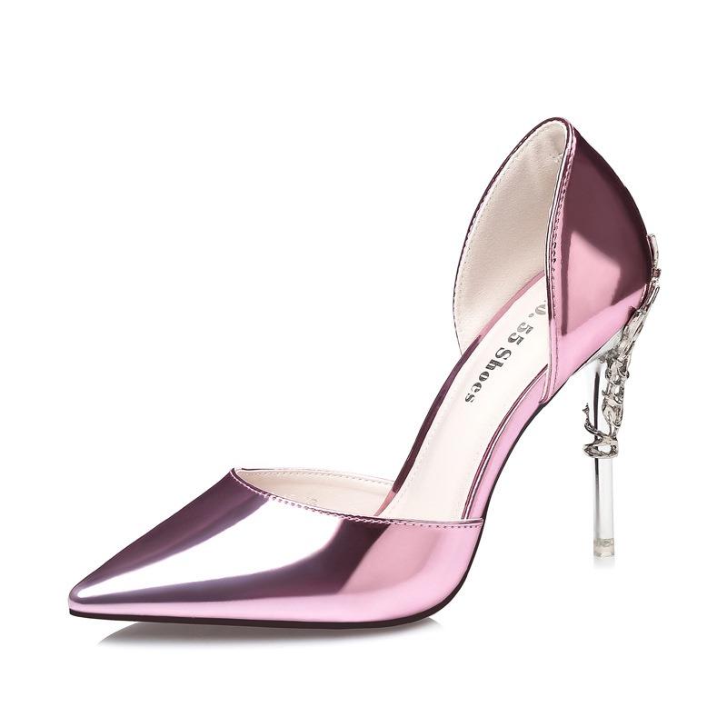 Ericdress PU Sequin Pointed Toe Stiletto Heel Pumps