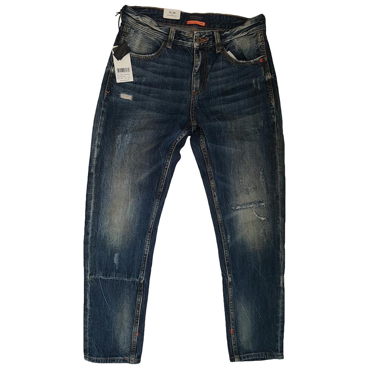 Scotch & Soda \N Blue Cotton Jeans for Men 30 US