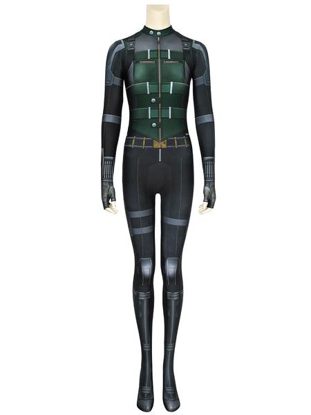 Milanoo Marvel Avengers Infinity War Black Widow Natasha Romanoff Zentai Jumpsuit Cosplay disfraz