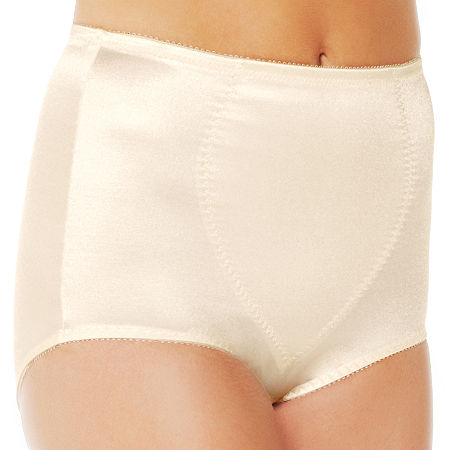 Underscore Rainbow Stretch Satin Tummy Panel Light Control Control Briefs 123-3904, Xx-large , Beige