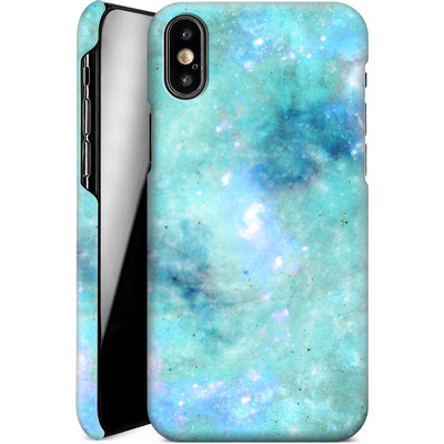 Apple iPhone XS Smartphone Huelle - Abstract Galaxy - Light Blue von Barruf