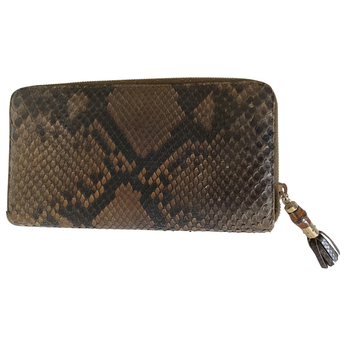 Gucci \N Brown Python wallet for Women \N