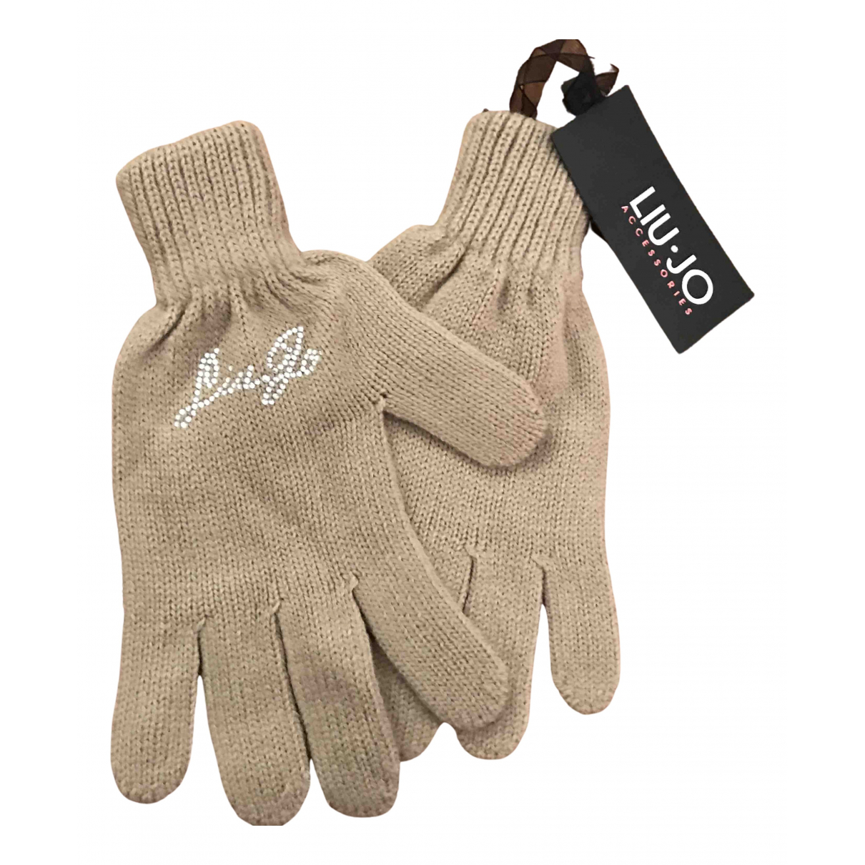 Liu.jo N Beige Wool Gloves for Women M International