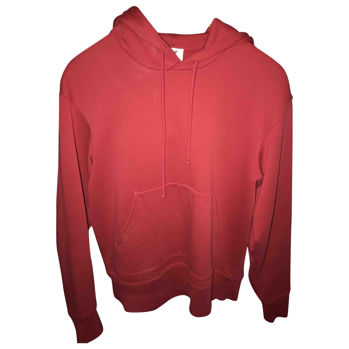 Acne Studios \N Pullover.Westen.Sweatshirts  in  Rot Baumwolle