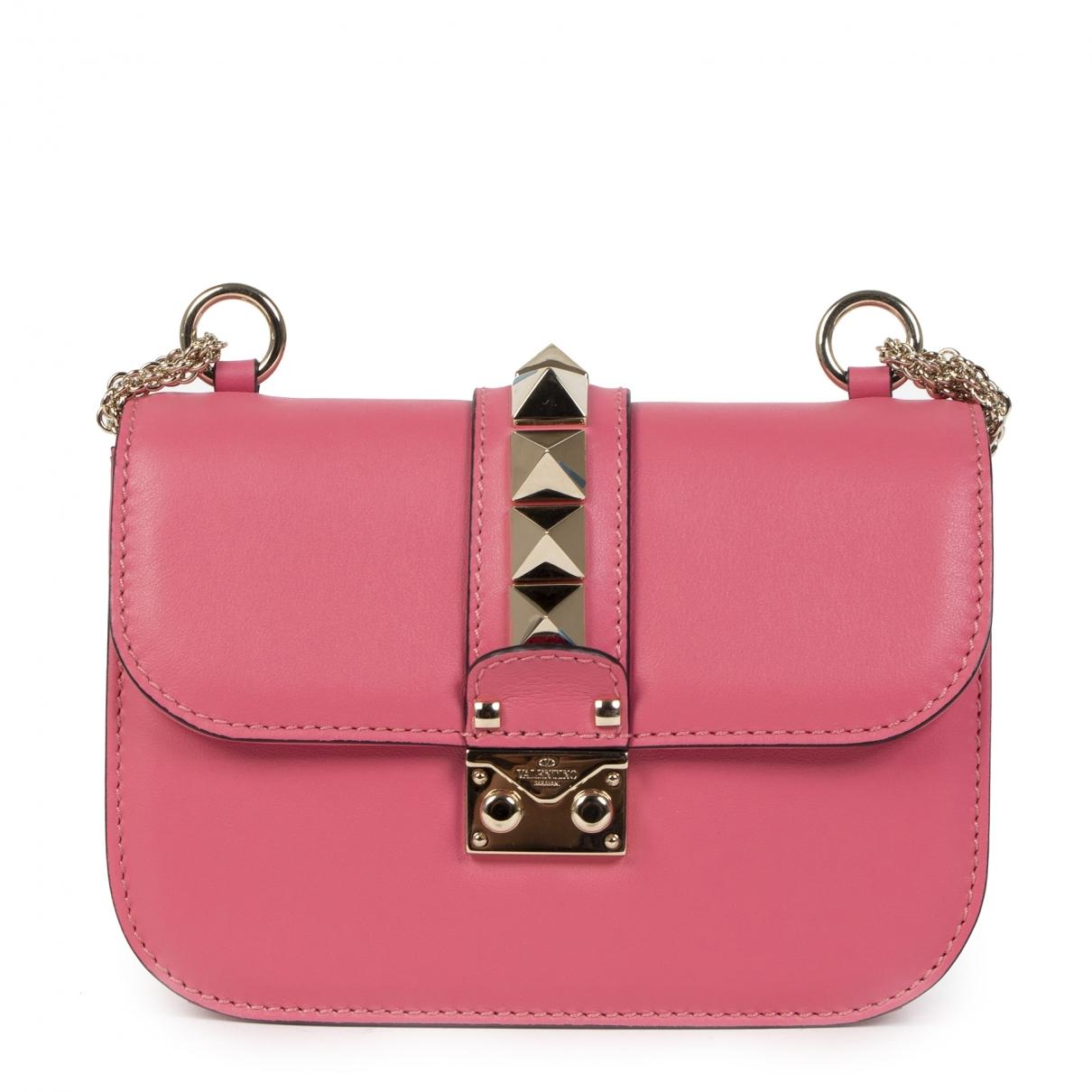 Valentino Garavani Glam Lock Handtasche in  Rosa Leder