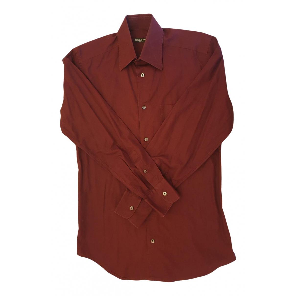 Dolce & Gabbana - Chemises   pour homme en coton - bordeaux