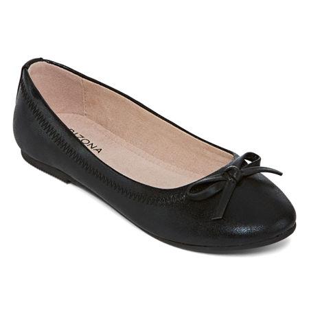 Arizona Girls Willow Ballet Flats, 13 Medium, Black