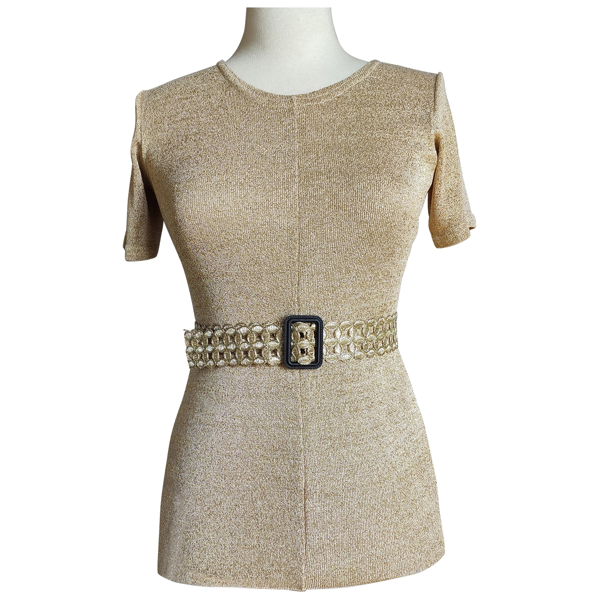 Non Signé / Unsigned \N Gold dress for Women XS International