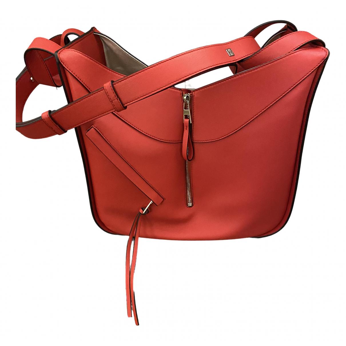 Loewe - Sac a main Hammock pour femme en cuir - rouge