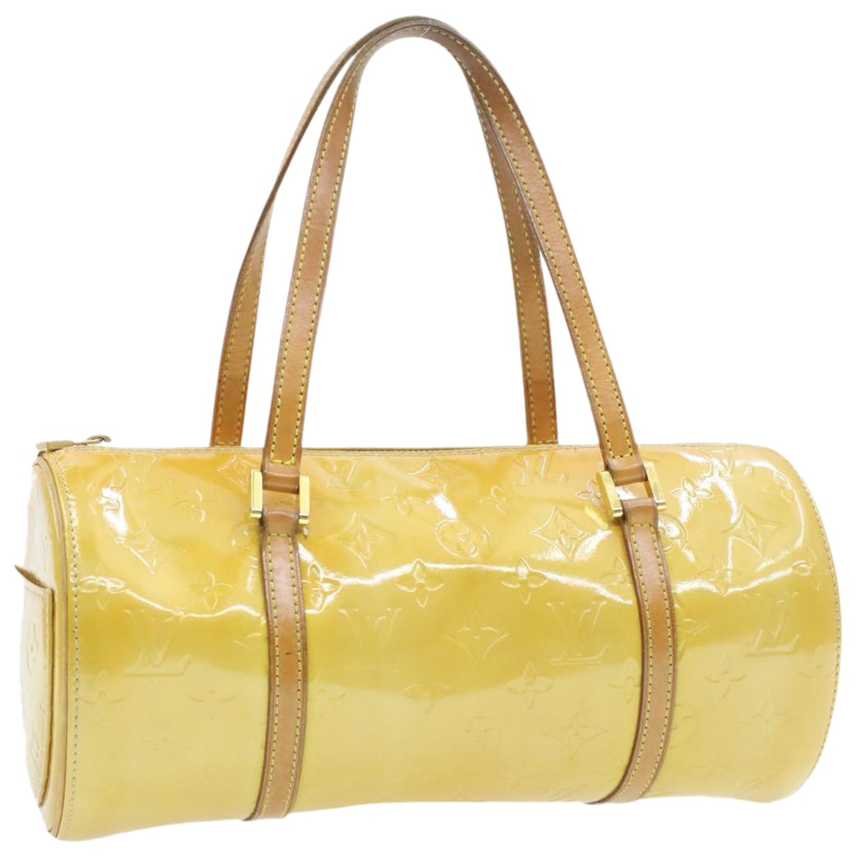 Louis Vuitton - Sac a main Bedford pour femme en cuir verni - beige