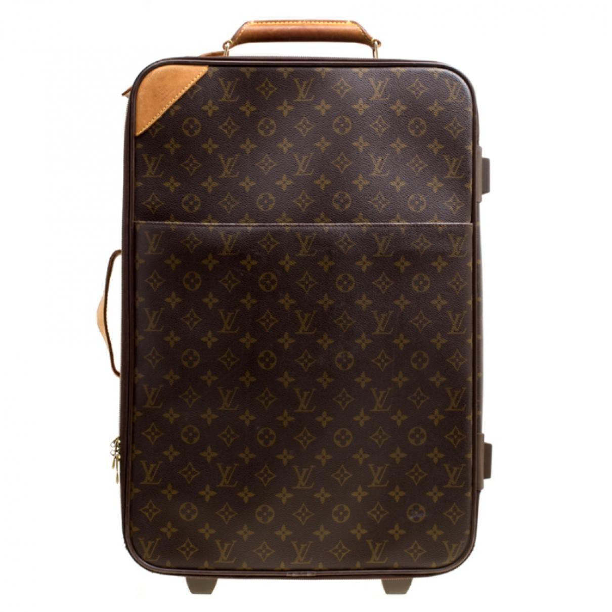 Louis Vuitton - Sac de voyage   pour femme en cuir - marron