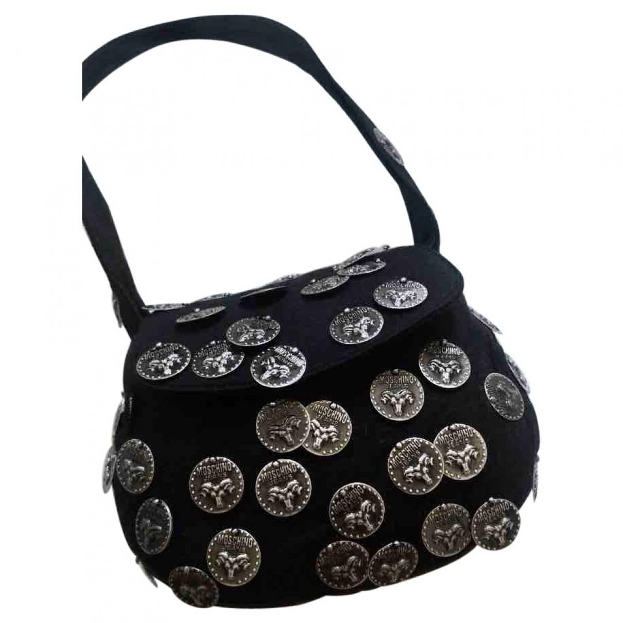 Moschino Cheap And Chic \N Handtasche in  Schwarz Wolle