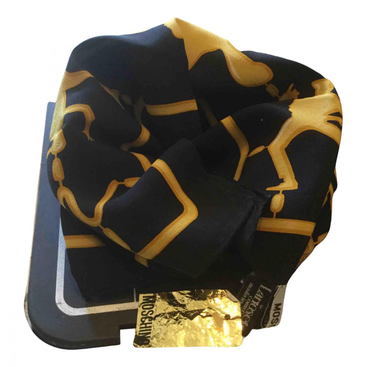 Moschino \N Schal in  Gelb Seide
