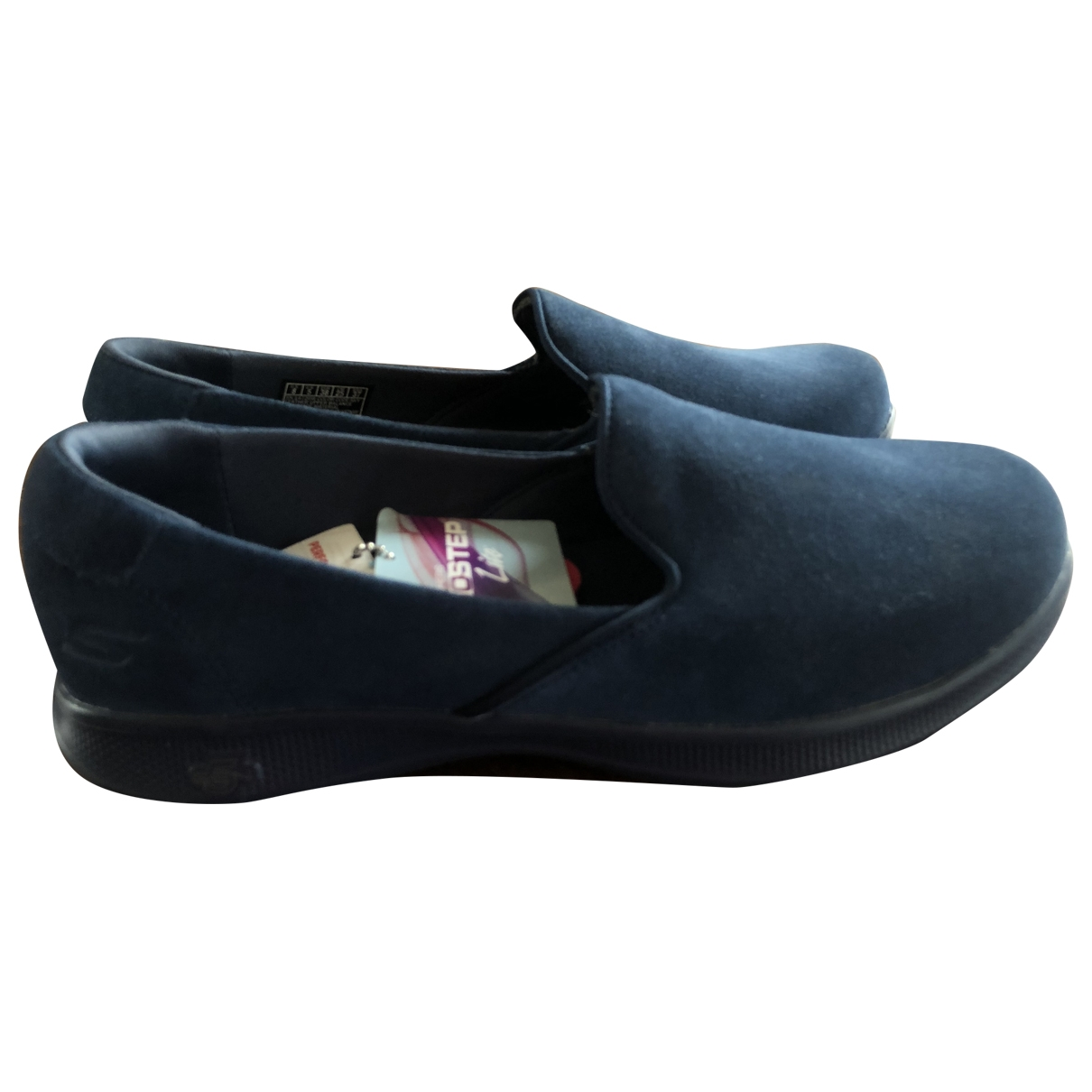 Skechers - Baskets   pour femme en cuir - bleu