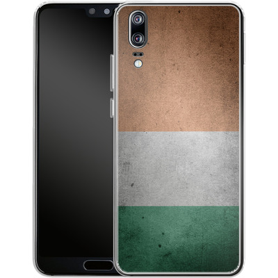Huawei P20 Silikon Handyhuelle - Rustic Irish Flag von caseable Designs