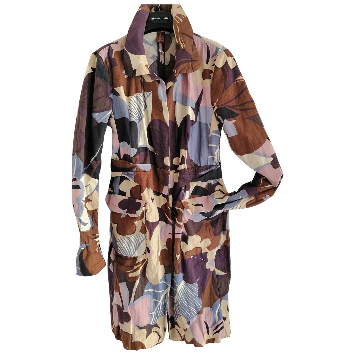 - Trench   pour femme en coton - multicolore