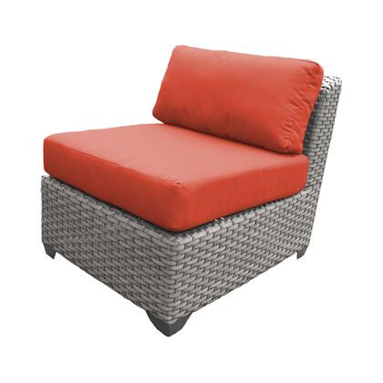 TKC055b-AS-DB-TANGERINE Florence Armless Sofa 2 Per Box with 2 Covers: Grey and