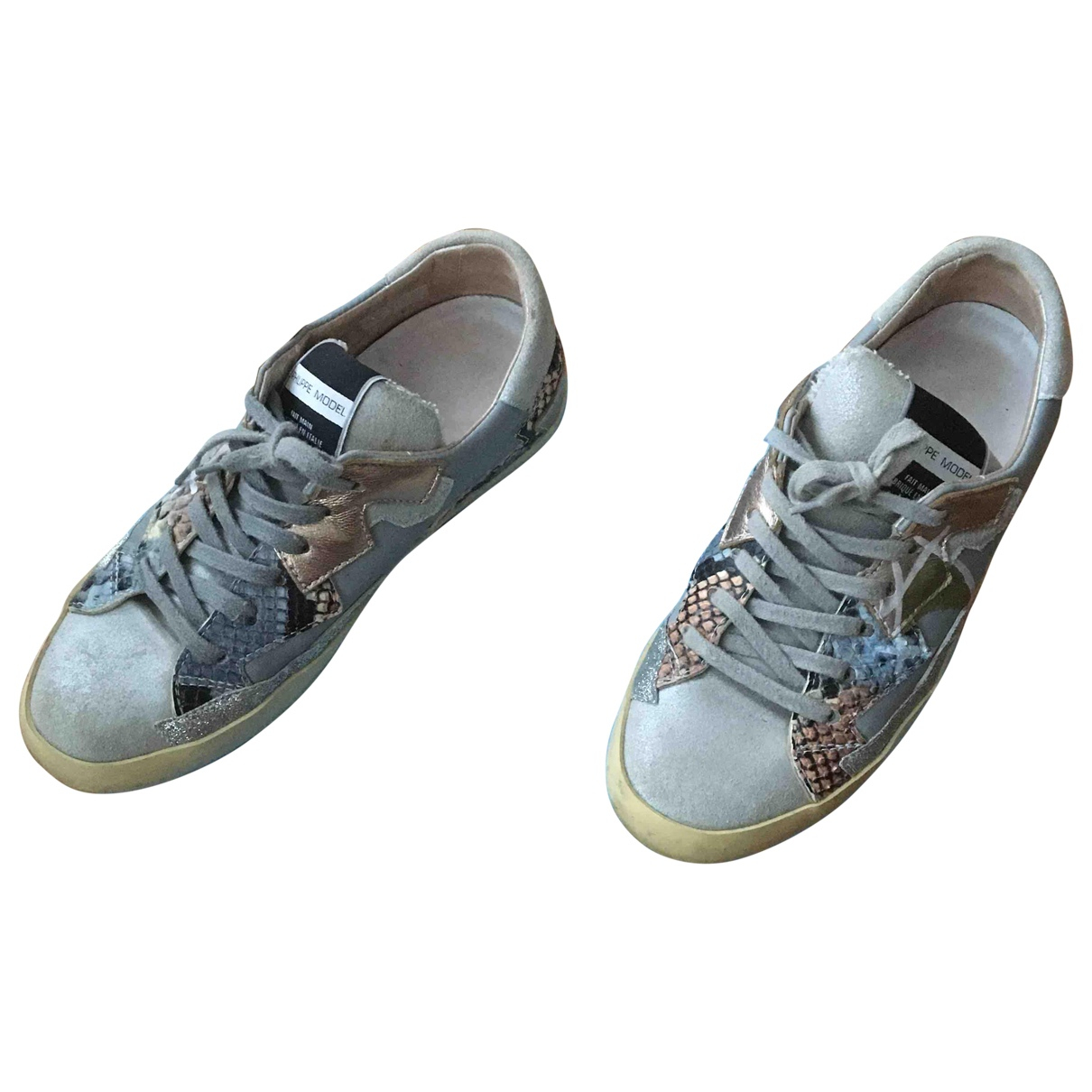 Philippe Model \N Multicolour Leather Trainers for Women 36 EU