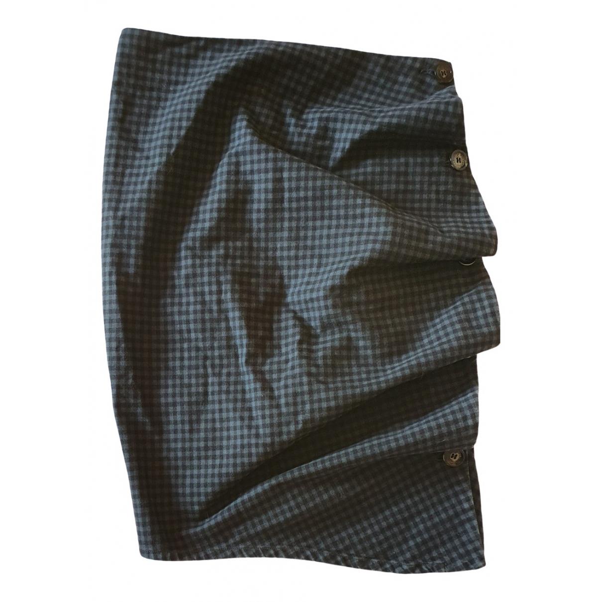 Mcq \N Green Cotton skirt for Women 40 IT
