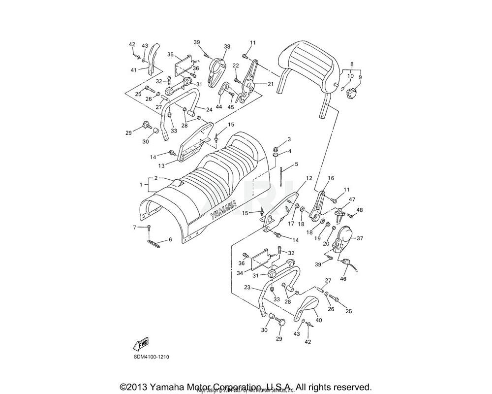 Yamaha OEM 8DM-2474G-10-00 STAY, FRONT 2