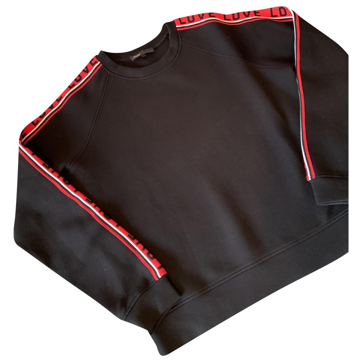 Maje \N Pullover in  Schwarz Baumwolle