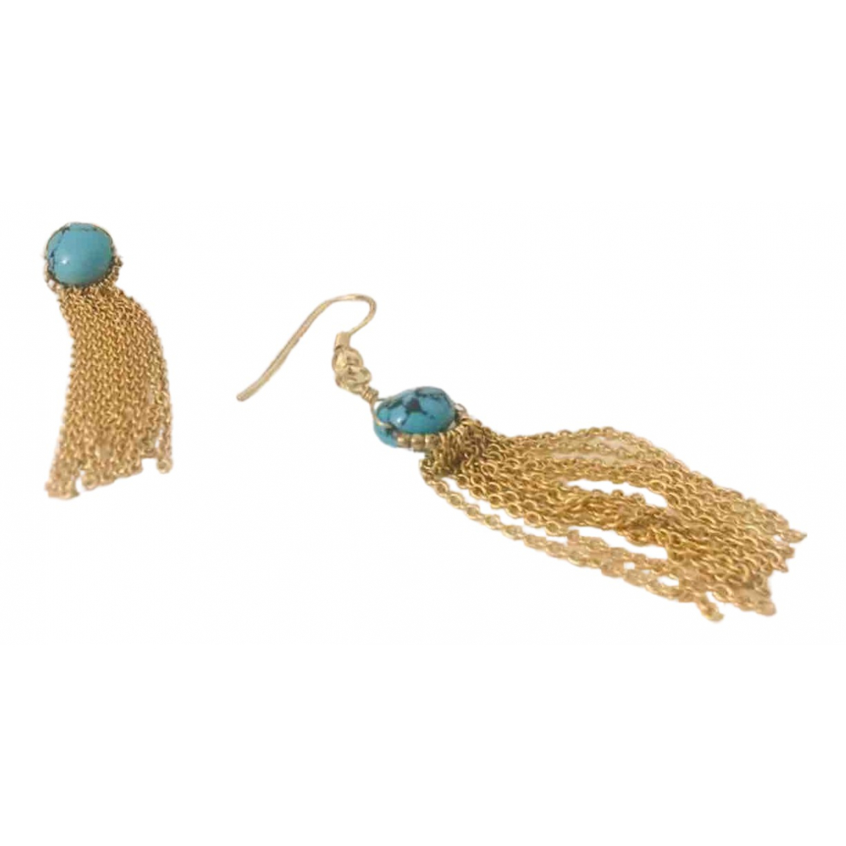 Sézane N Turquoise Metal Earrings for Women N