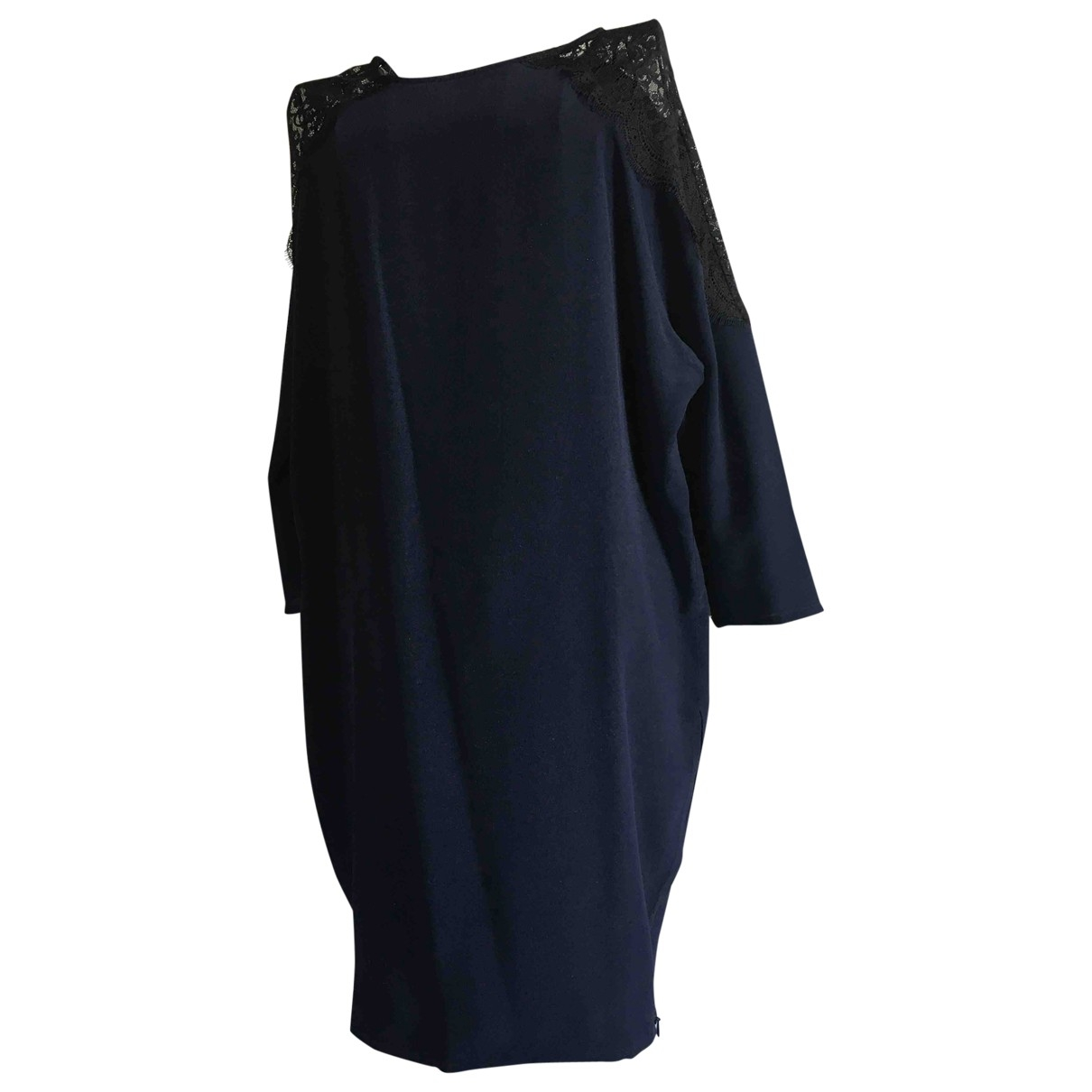 Patrizia Pepe \N Blue Silk dress for Women 42 IT