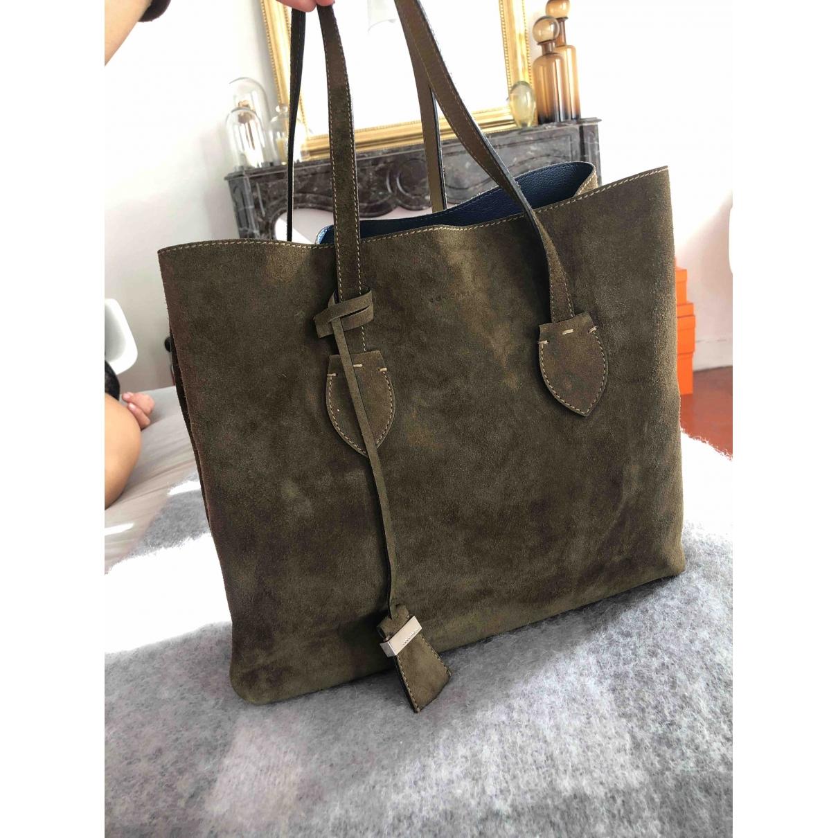 Coccinelle \N Khaki Suede handbag for Women \N