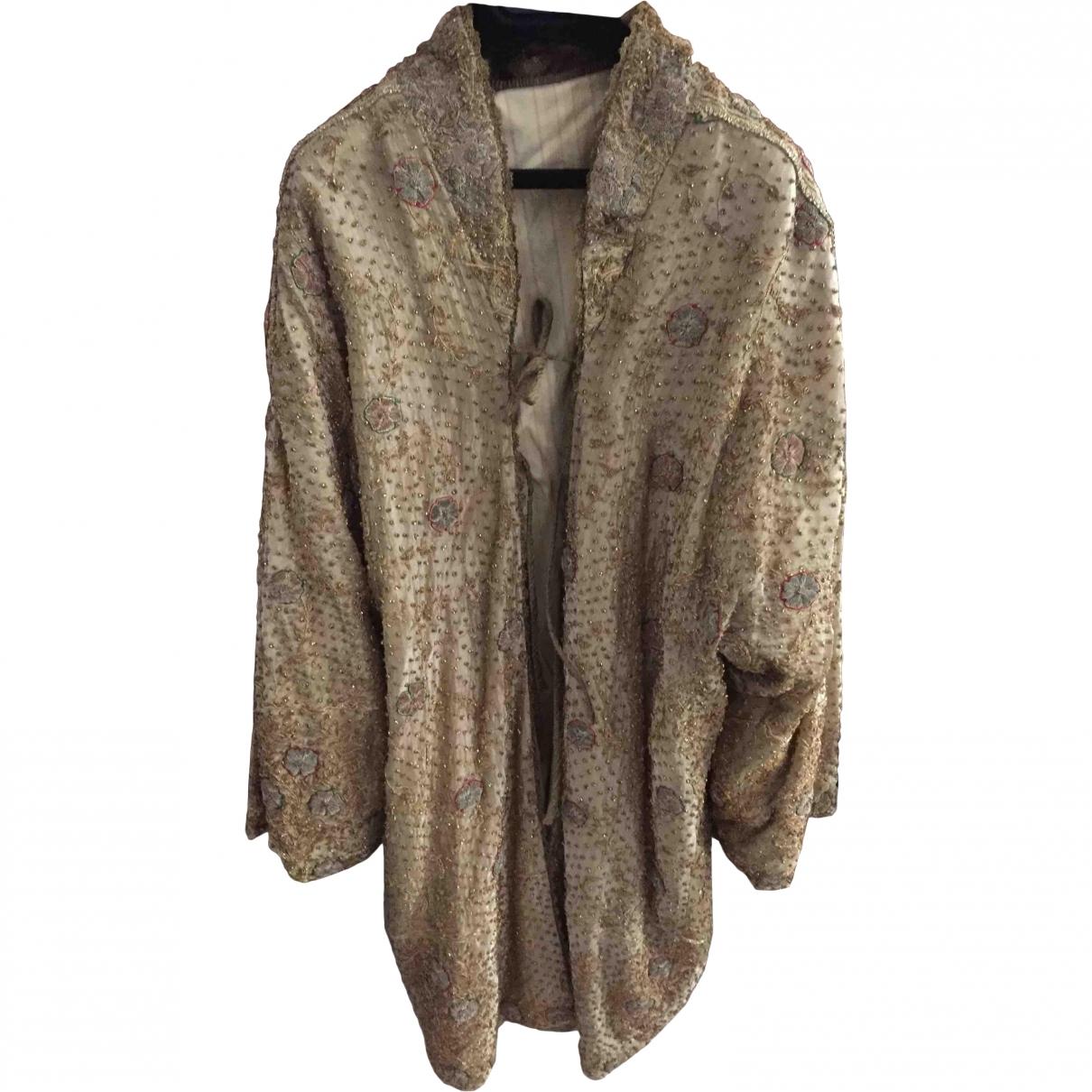 Non Signe / Unsigned Oversize Jacke in  Gold Seide