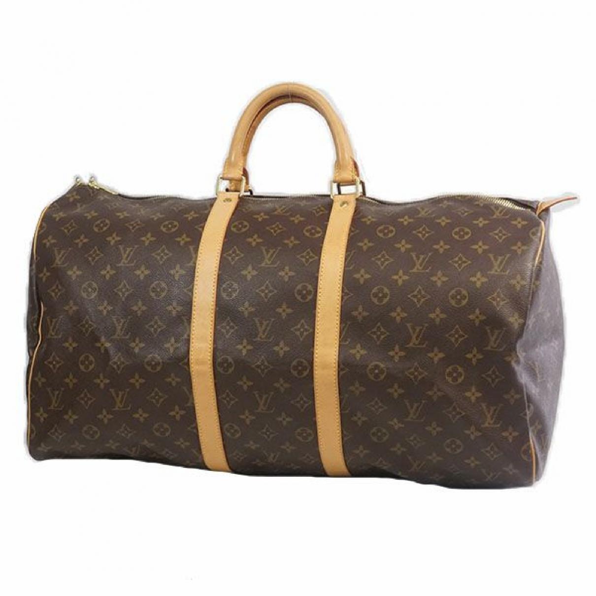 Louis Vuitton - Sac de voyage   pour femme en toile