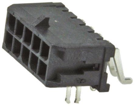 Molex , Micro-Fit 3.0, 43045, 10 Way, 2 Row, Right Angle PCB Header (10)