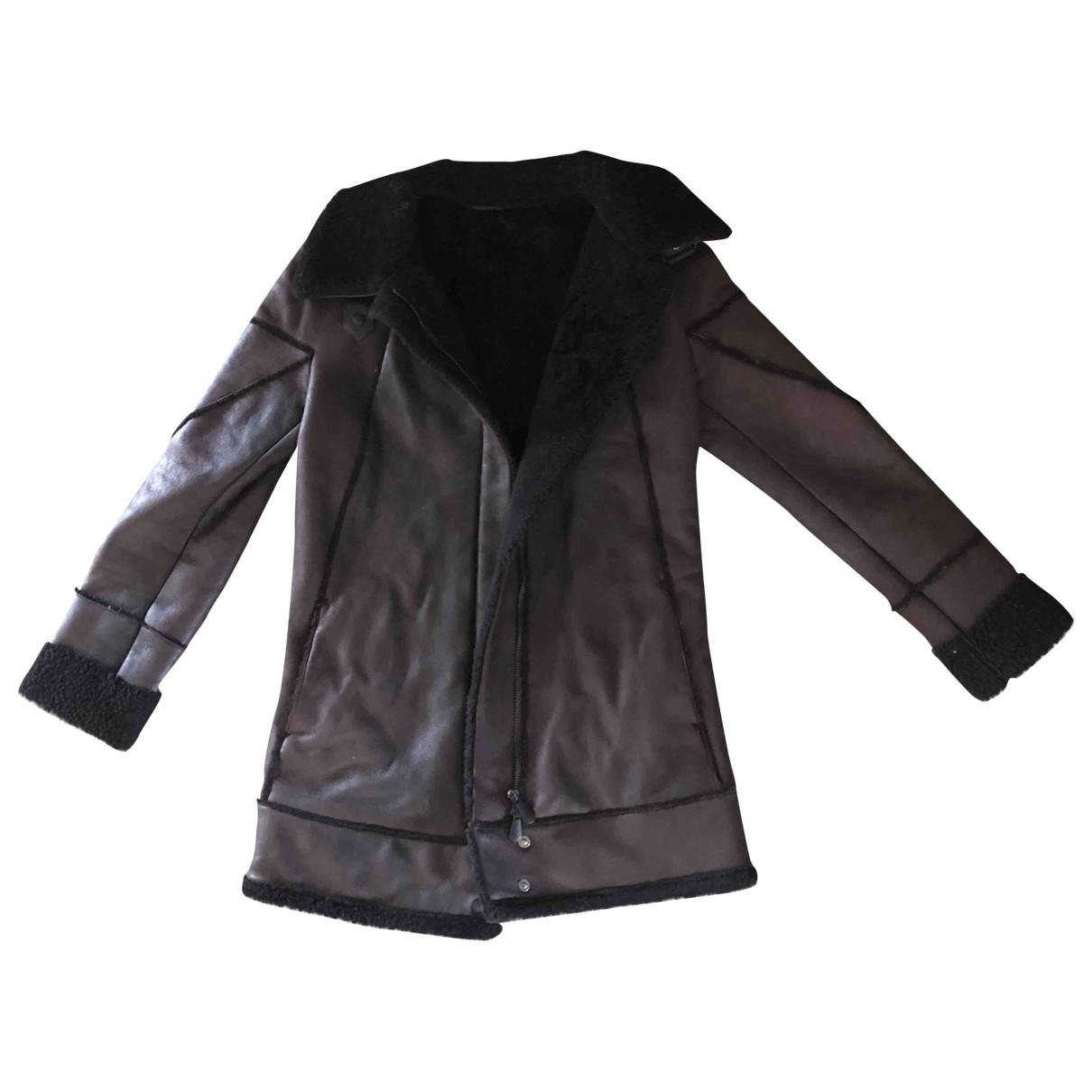 Bottega Veneta \N Burgundy Shearling Leather jacket for Women 34 FR