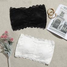 2pack Scallop Floral Lace Bandeau Set