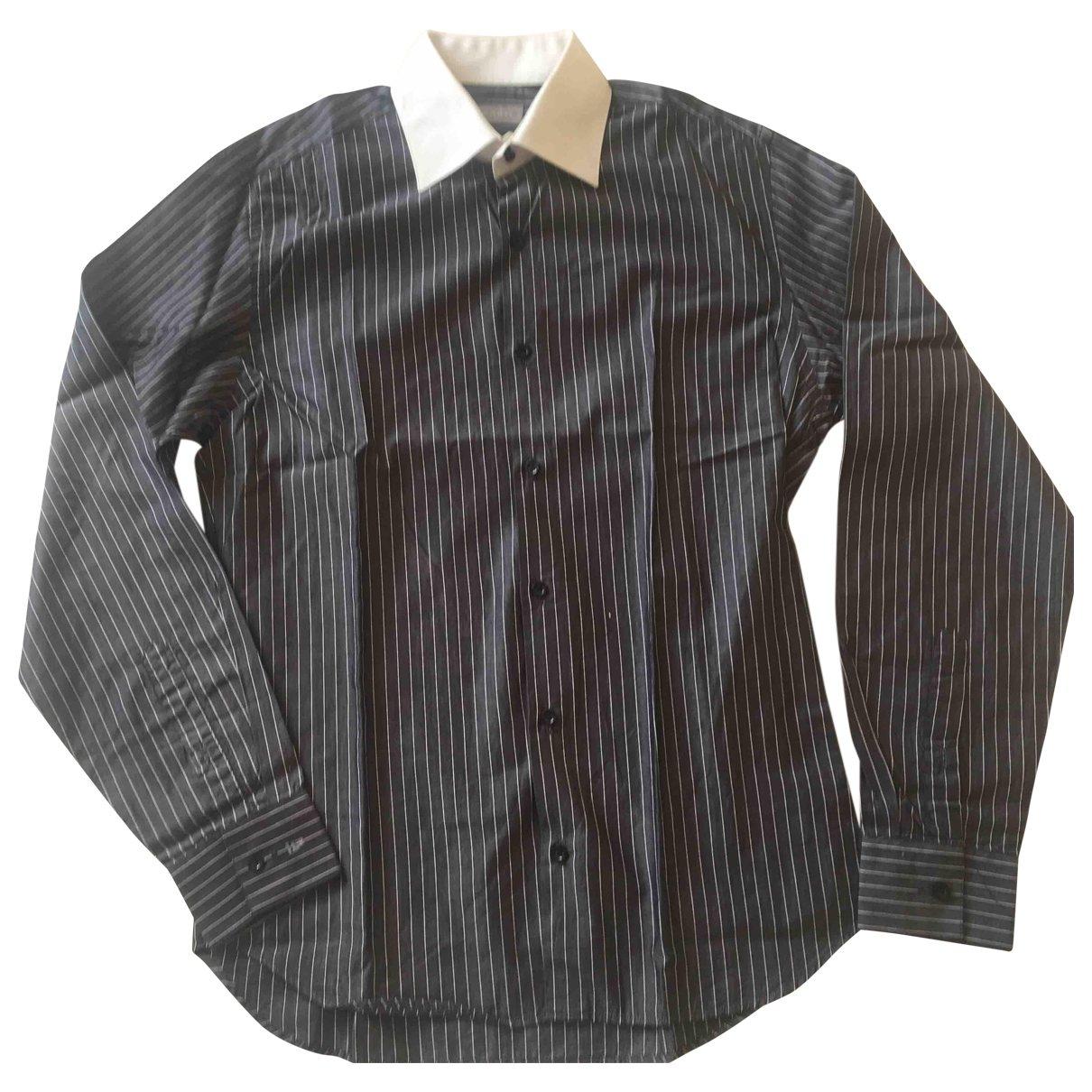 Azzaro - Chemises   pour homme en coton - gris