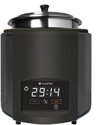675201-BLACK SinAqua 7 Qt. Freestanding Souper with 800 Watts Induction Heating  240 Volts  Pan Compensation Technology and Capacitive Touch Control