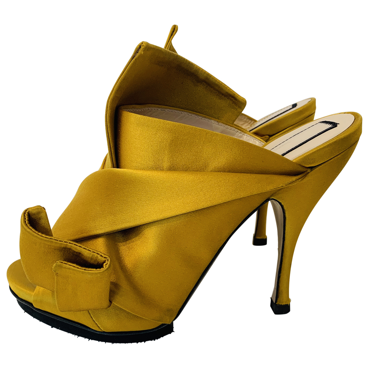 N°21 N Yellow Cloth Sandals for Women 39 EU