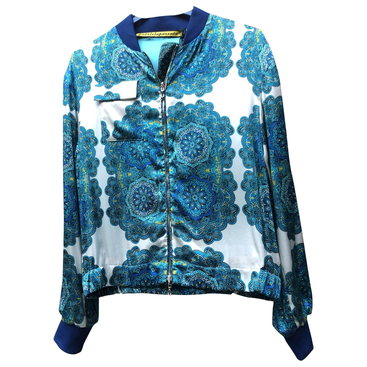 Non Signé / Unsigned \N Turquoise Silk jacket for Women 40 IT