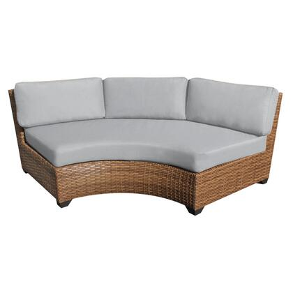 TKC025b-CAS-GREY Laguna Curved Armless Sofa with 2 Covers: Wheat and