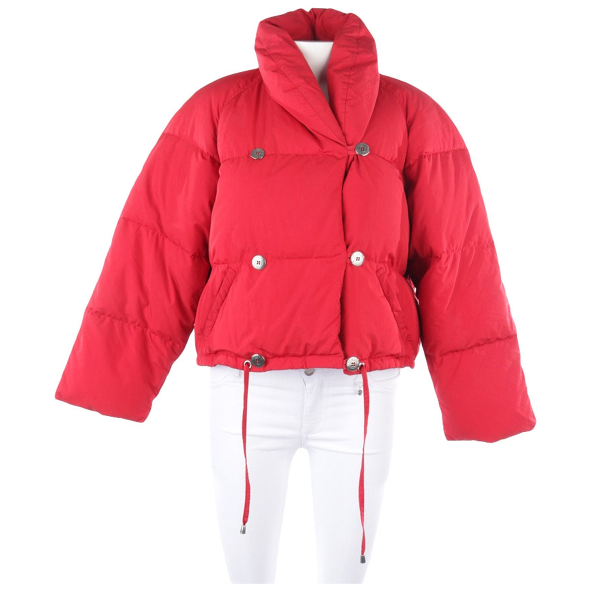 Max Mara \N Red Leather jacket for Women 38 FR