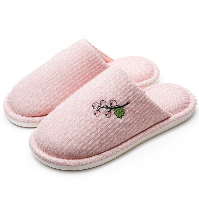 Women Round Close Toe Warm Slippers Home Shoes