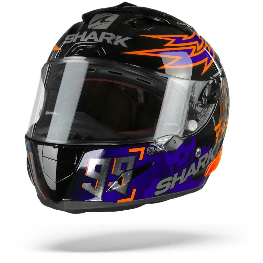 Shark Race-R Pro Lorenzo Catalunya GP 2019 Casco Integral (Full Face) Negro Rojo Azul KRB L