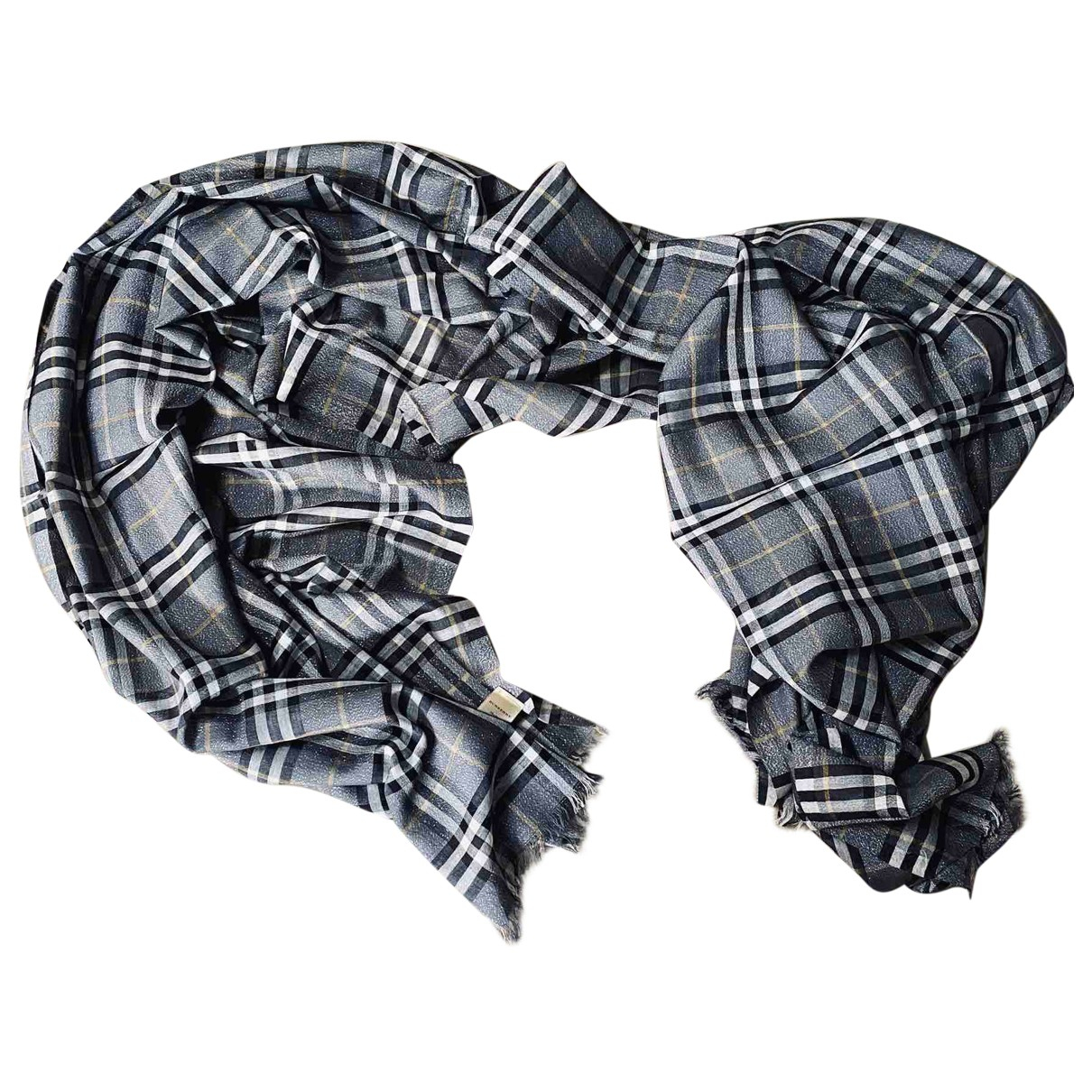 Burberry \N Grey Silk scarf for Women \N