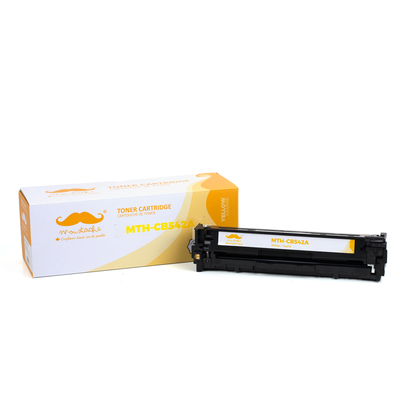 Remanufactured HP 125A CB542A Yellow Toner Cartridge - Moustache®