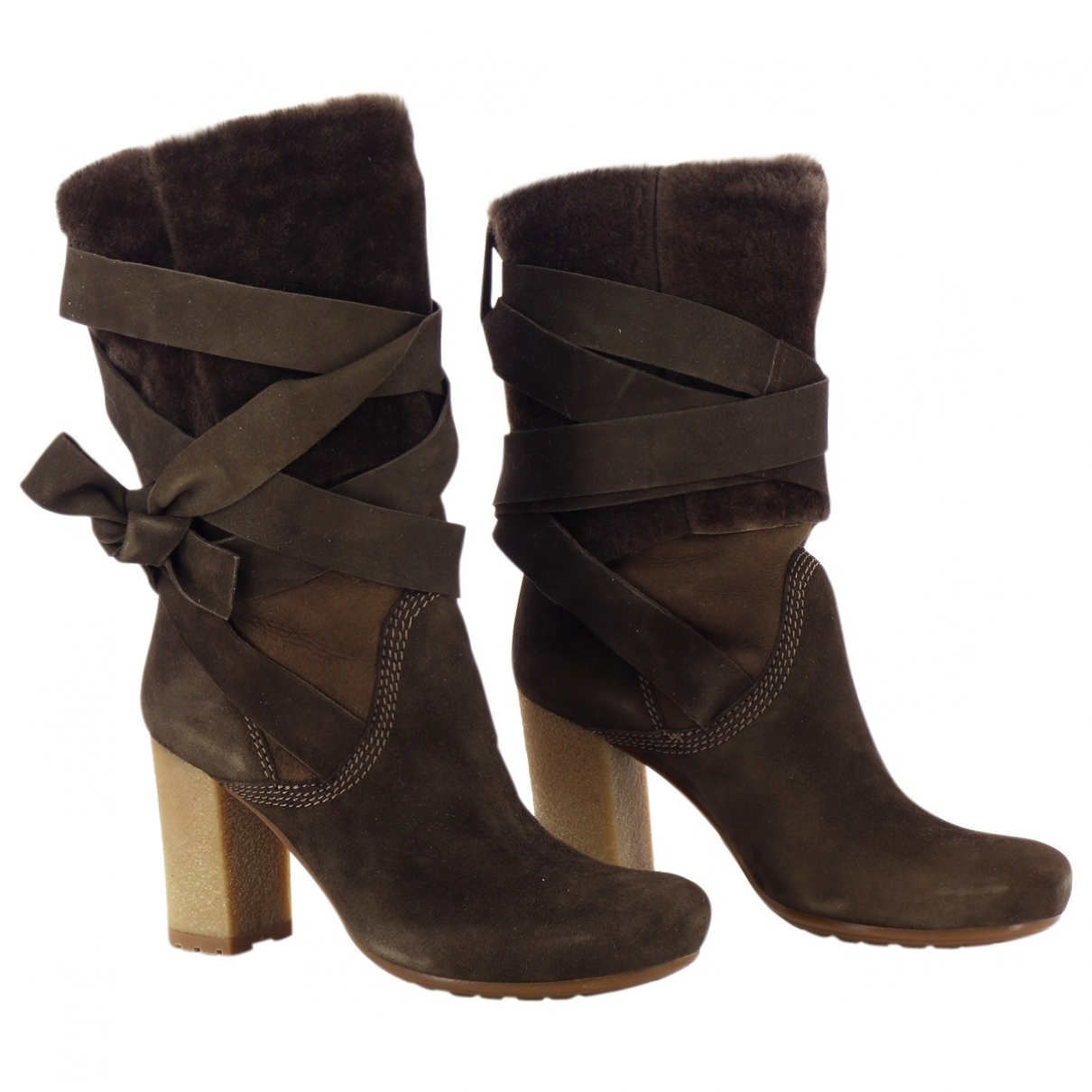 Vic Matié \N Brown Leather Boots for Women 36 EU